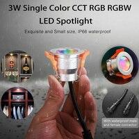Miboxer 3W Mini LED Downlight monocolore CCT RGB RGBW dimmerabile lampada da armadio impermeabile armadio gioielli vetrina faretti