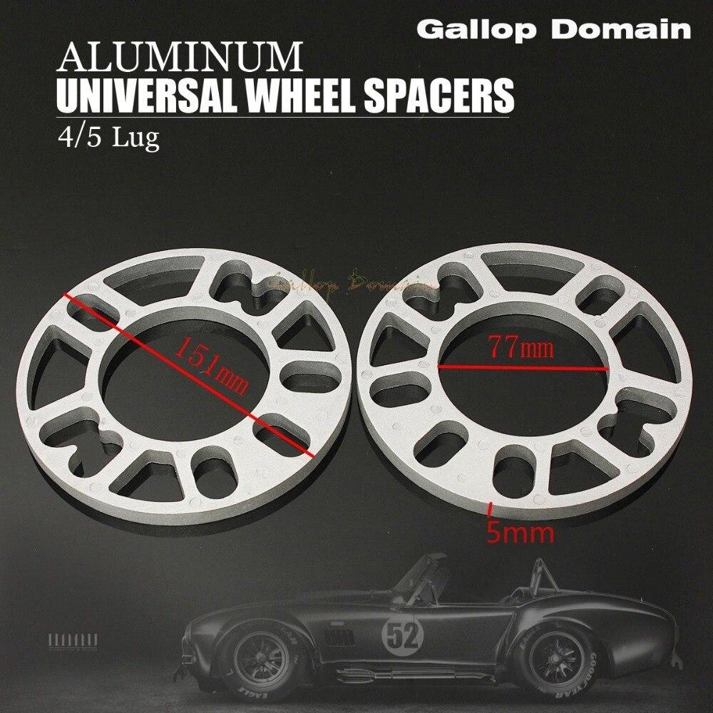 2 Pcs 3/5/8/10 Mm Aluminium Spoorverbreders Shims Plaat 4 & 5 Stud Fit For a focus Mondeo Gratis Verzending Auto-styling