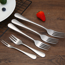 5 pcs /set Stainless Steel Forks Main /Dining /Fruit /Cake/Dessert Tableware Environmentally friendly for Kitchen tools