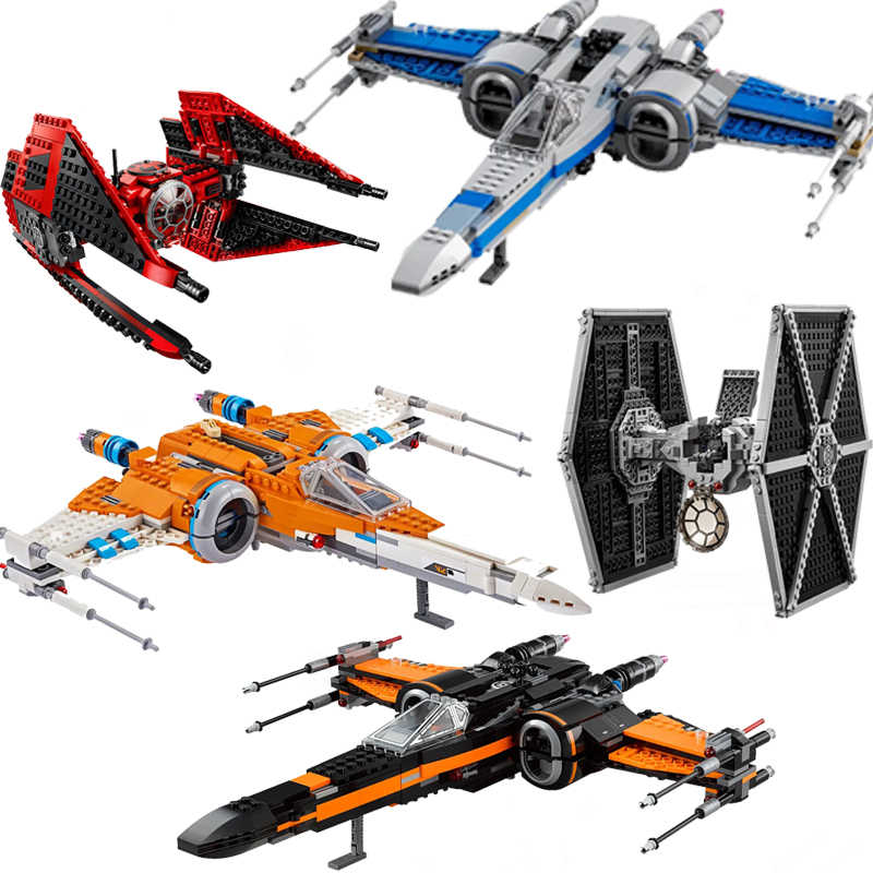 Lepining Star Rosso Tie Fighter MicroFighters Wars Il Aumento di Skywalker Building Blocks Mattoni Star Wars Giocattoli Per Christma Regali