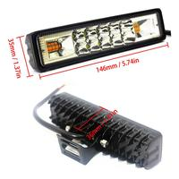 white light car 48W Strobe Flash Work Light LED Light Bar Amber Blue Red White for Offroad 4x4 ATV SUV Motorcycle Truck Trailer car accessories (2)
