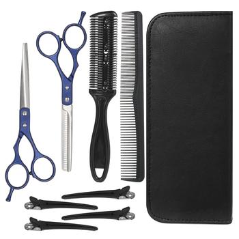 8 sztuk profesjonalny zestaw nożyczek fryzjerskich ścinanie włosów nożyczki nożyce do cieniowania włosów grzebień spinki do włosów 8 narzędzia do pielęgnacji włosów tanie i dobre opinie MARSKE Other Jedna jednostka STAINLESS STEEL CN (pochodzenie) 22cm MU1439240 Nożyczki do włosów