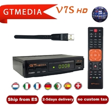 Freesat V7 HD Satellite Receiver with USB WIFI Europe Cccam Cline Italy UK Full HD DVB-S2/S satellite tv decode ship gtmedia v7s cccam cline europe dvb s2 freesat v7 satellite tv receiver set top box dvb s2 support powervu cccam youporn with usb wifi