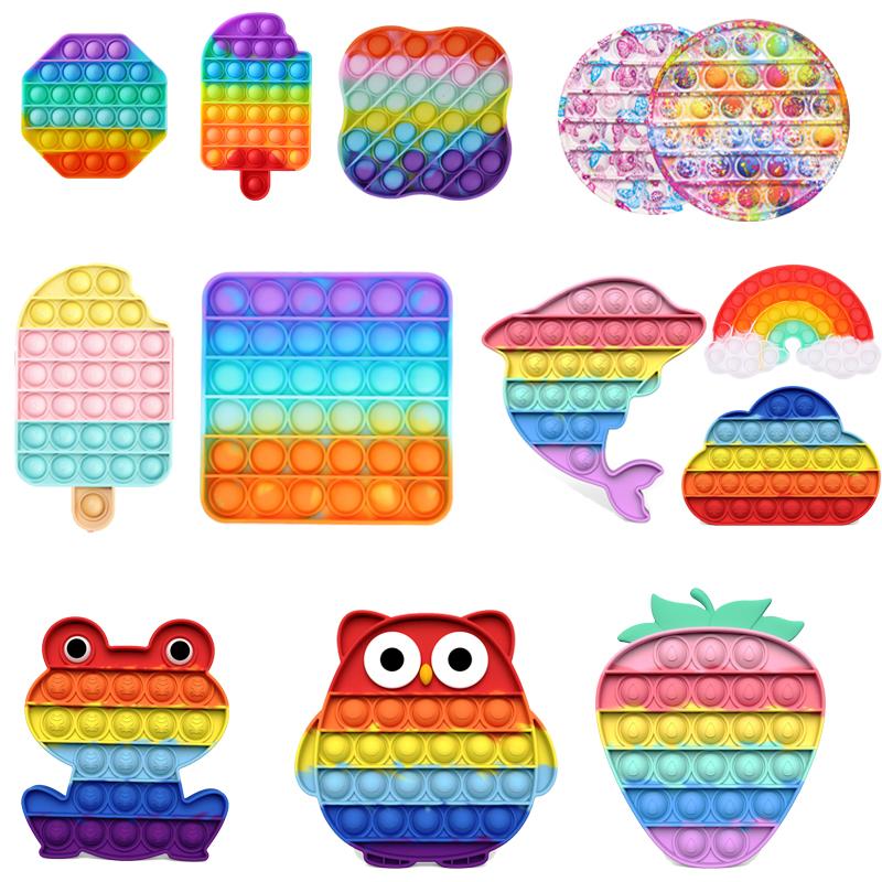 Adult Kids Antistress Increase Focus Push Pop Bubble Fidget Sensory Toys Autism Special Needs Stress Reliever Fidgrt Toys