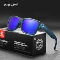 KDEAM Exklusive Sonnenbrille Polarisierte für Männer und Frauen Surfen Wandern Sport Sonnenbrille Neue Transluzent Blau von KD505 CE