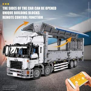 Image 5 - 23008 app motorizado técnica carro brinquedos compatíveis com MOC 1389 asa corpo caminhão modelo blocos de construção tijolos crianças presentes natal