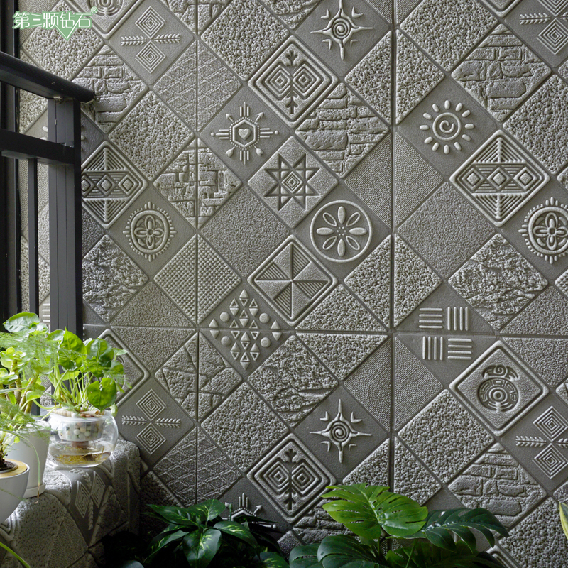Thickened 3D three-dimensional wall paste, bedroom anti-collision self-adhesive wall, Hb waterproof creative living room