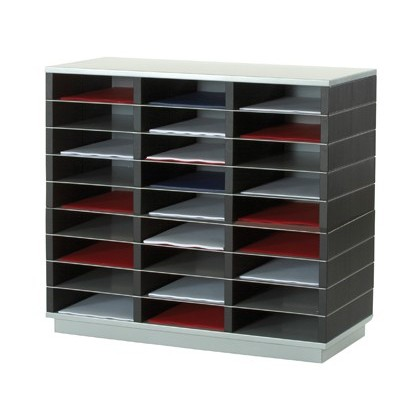 FURNITURE FAST-PAPERFLOW 27 Boxes PLASTICO-METAL 75X70X32,8 CM SK-133S135 AND SK-1BR35