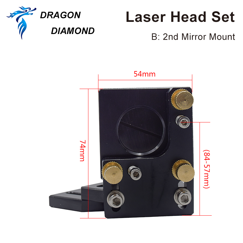 Factory Supply Co2 Laser A Second Reflection Mirror Mount Support Integrative Holder For Laser Engraving Cutting Machine