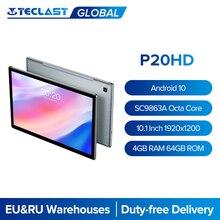 Teclast – tablette PC P20HD de 10.1 pouces, avec appels et réseau 4G, Android 10.0, 1920x1200, Unisoc Octa Core, 4 go de RAM, 64 go de ROM, double caméra