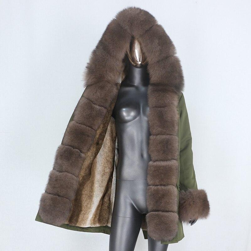 H6bcbc3c7a73143a898725c4622cb86e3w CXFS 2021 New Long Waterproof Parka Winter Jacket Women Real Fur Coat Natural Raccoon Fur Hood Thick Warm Streetwear Removable