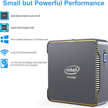 Intel Celeron J4125 Quad Core Mini PC DDR4 8GB RAM 256GB SSD Windows 10 Dual WIFI 1000M LAN 4K WIN10 computadora de juegos PC PK GK55