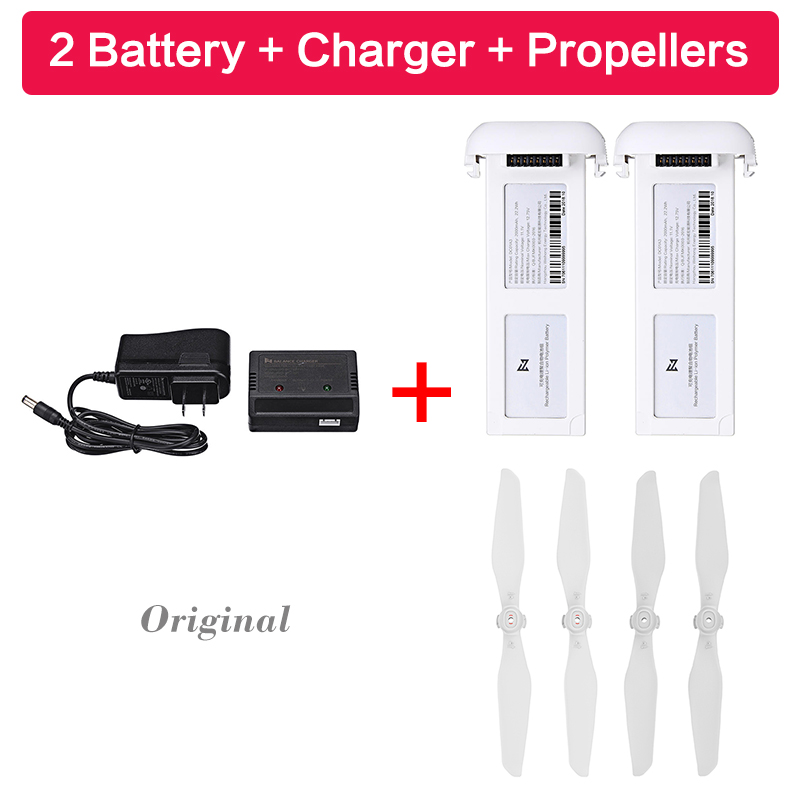Original 5100mAh/<font><b>A3</b></font> Intelligent <font><b>Battery</b></font> Charger Propeller Set For 4K/<font><b>A3</b></font> Drone / 1080P RC Drone with Gold Button image