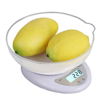 New Kitchen Scales 5kg x 1g Portable Electronic Digital Cooking Weight Scale Food Scale Multifunctional (No Battery Included) 10000g x 1g digital mini food diet kitchen scale balance weight scale led electronic cooking scale measure tools