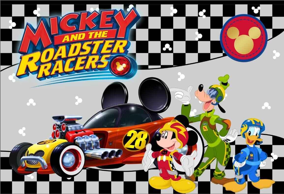 7x5ft Mickey Roadster Racers Race Flag Birthday Party Custom Photo Studio Backdrop Background Vinyl 220cm X 150cm Background Aliexpress