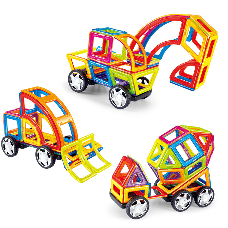 MAGBROTHER Magnetic  Blocks Educational  Construction Toys Building Set Magnet Designer Tiles Kit For Kids