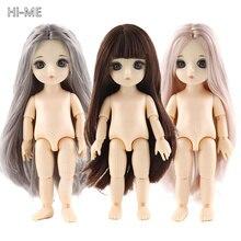 13 Moveable Jointed 15cm 1/8 muñecas juguetes BJD muñeca bebé desnudo mujeres cuerpo moda muñecas juguete para niñas regalo de Normal de la piel
