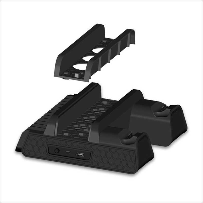 Untuk PlayStation PS 4 PS4 Slim PS4 Pro Permainan Konsol Gamepad Kipas Pendingin Pengisian Stasiun Charger Stand Dock Kontrol Permainan cooler