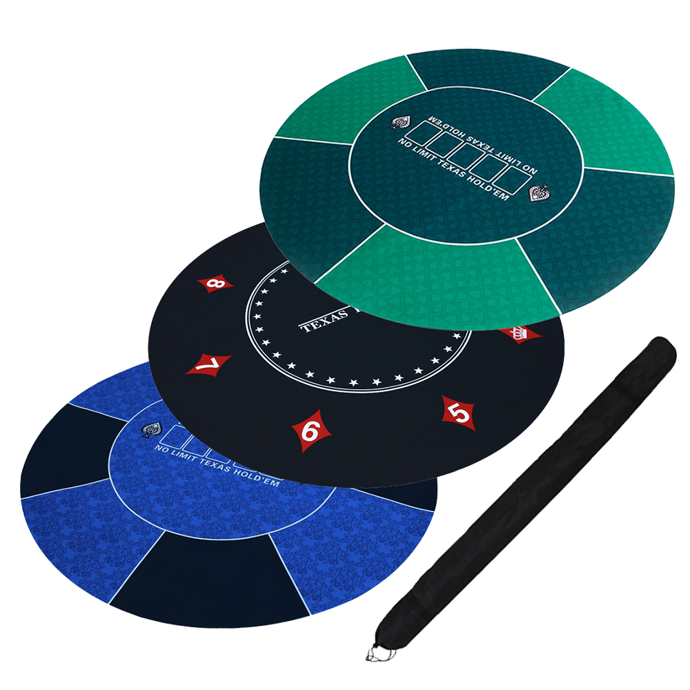 120cm Rubber Round Table Top Texas Hold'em Poker Table Cloth Game Table Mat Layouts For Poker