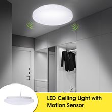 Led deckenleuchte mit Motion Sensor 12W mit Tageslicht Sensor 27cm Durchmesser Decke Lampe für Keller Garage Schrank flure