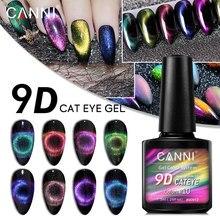 CANNI 9D Galaxy Cat Eye Magnetic Gel Polish 7.3ml 3D Nail Art Design Manicure Soak Off Enamel UV Gel Nail Polish Lacquer Varnish gelike 9d magnetic cat eye uv led gel nail polish colorful shining galaxy cat eye gel lacquer soak off uv gel varnish nail art