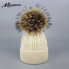 Sopamey, натуральная норка, шапочка с помпоном, женские Меховые помпоны, шапки, зимний лыжный вязаный трикотаж, помпоны, шапки, Балаклава, флисовая маска