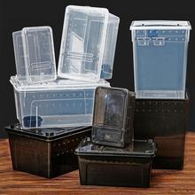 Ящик для рептилий, коробка для разведения, коробка для разведения, угол для ресниц, паук, лягушка, насекомое, черепаха, игрок, змея, против побега, коробка для разведения