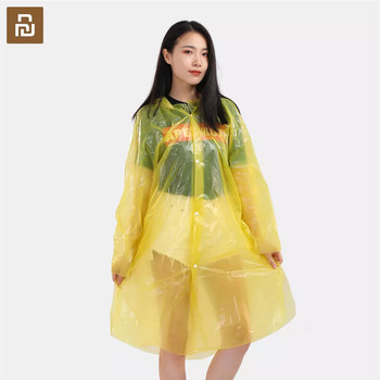 Youpin Portable Disposable Raincoat Thicken Hooded Adult Transparent Rain Poncho Outdoor Waterproof Rainwear For Hiking Climbing