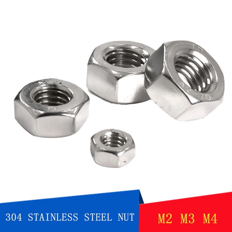 M6 NYLOC NUTS A2 STAINLESS STEEL NYLON INSERT LOCK M4 M5 MIXED PACK OF 120 M3