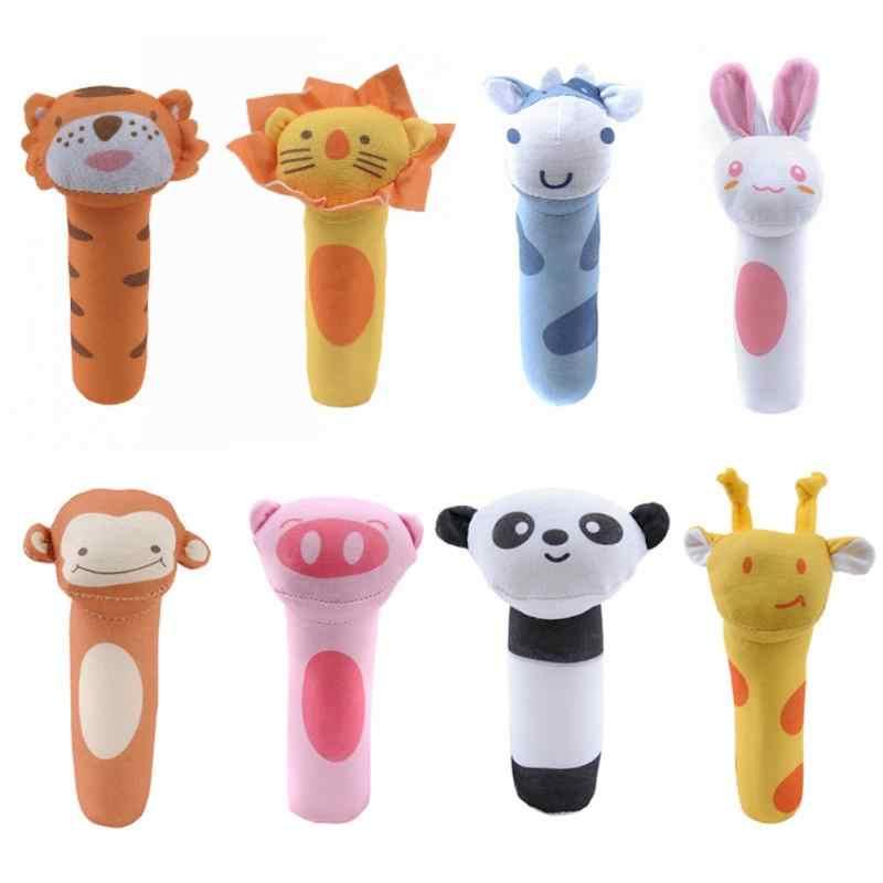 Sonajeros de felpa para bebés, SONAJA de muñeca para recién nacidos, sonajeros de mano suave, sonajeros, campanillas de animales de dibujos animados para bebés de 0 a 24 meses, TXTB1