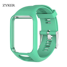 Colorful Silicone Strap for TOMTOM Runner 2 3 Spark Glfer Adventurer wrist Smart Band Accessories Sport Bracelet