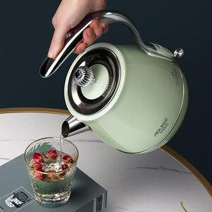 1500 Вт Электрический чайник 304 чайник из нержавеющей стали чайник для кипяченой воды Ретро чайник для воды автоматическое отключение питани...