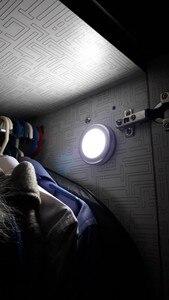Image 4 - 6 LED モーションセンサーナイトライトワイヤレス赤外線自動センサー壁ランプバッテリ駆動屋内キャビネット階段クローゼット光
