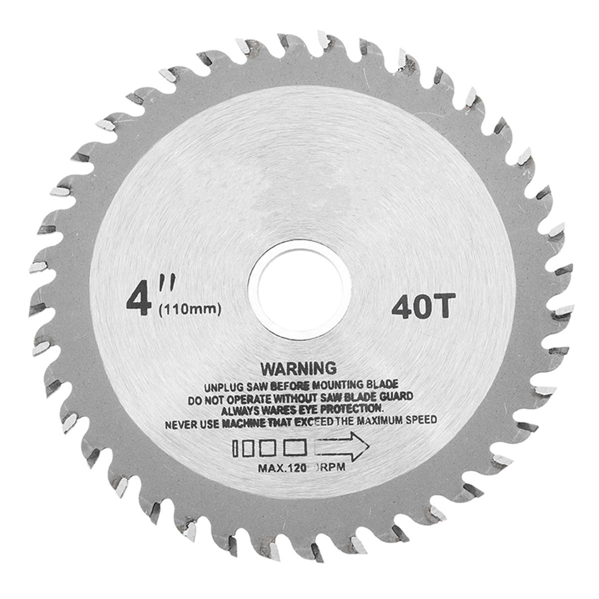 High Quality 4 Inch 40 Teeth Circular Saw Blade Acrylic Plastic Woodworking Cutting Blade New