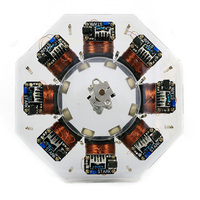 Dr. Engine Level 8 Stark Stator Silicon Steel Core Motor High Power Disc Brushless Motor Science Model Building Toy