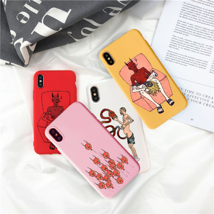 Funny Pics Polly Nor Painting Art Soft Silicone Phone Case iPhone 5 5s SE 6S 7 8 Plus X XR XS Max 11 Pro Max colours TPU shell