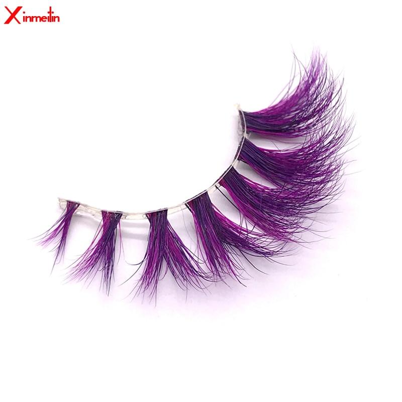 New Viole 3D Mink Lashes Wholesale Makeup Natural Long Individual Thick Fluffy  Colorful False Eyelashes Lash Extension Supplies