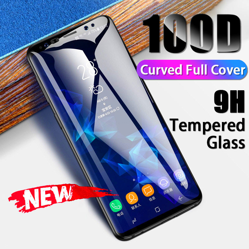 Curved Full Cover Tempered Glass For Samsung Galaxy Note 10 9 8 S8 S9 Screen Protector Film For Galaxy S20 S10 Protective Glas