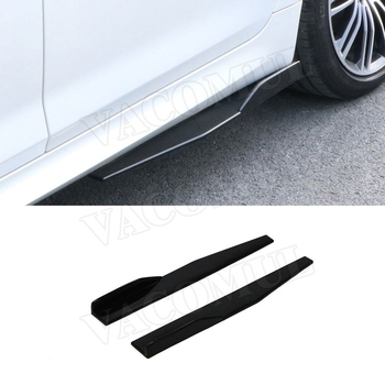 Universal Carbon Fiber / ABS Side Skirts Apron Lip for BMW E87 E90 E92 E93 F80 F82 F83 M4 F10 M5 All Cars image