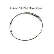 Perche à bande magnétique de haute précision 2 + 2mm, largeur de bande 2mm, hauteur 10*1.2mm pour capteur magnétique 1um, tour pierre à bois, etc