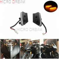 2pcs For Ducati 959/1299 Panigale All Mirrors Block Off Turn Signals Light Front LED Indicator Amber Flashing Indicator Lights