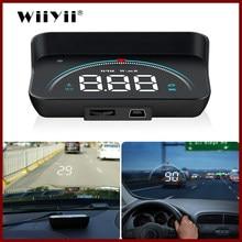 Geyiren m8 carro hud cabeça up display obd2 ii euobd sistema de aviso excesso de velocidade projetor pára-brisa automático alarme tensão eletrônica