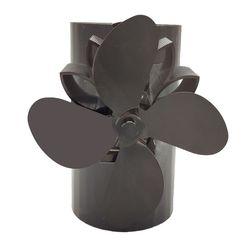 4 лопасти тепловое питание магнит камин плита подвесной вентилятор для камина алюминиевый бесшумный экологически чистый для дерева