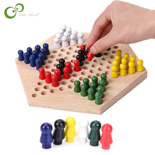 Checkers-Set Chess-Game Game-Pieces Strategy Kids Chinese Educational-Board Wooden Classic