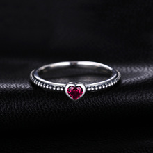 Red Murano Glass Heart Sterling Silver Rings Jewelry