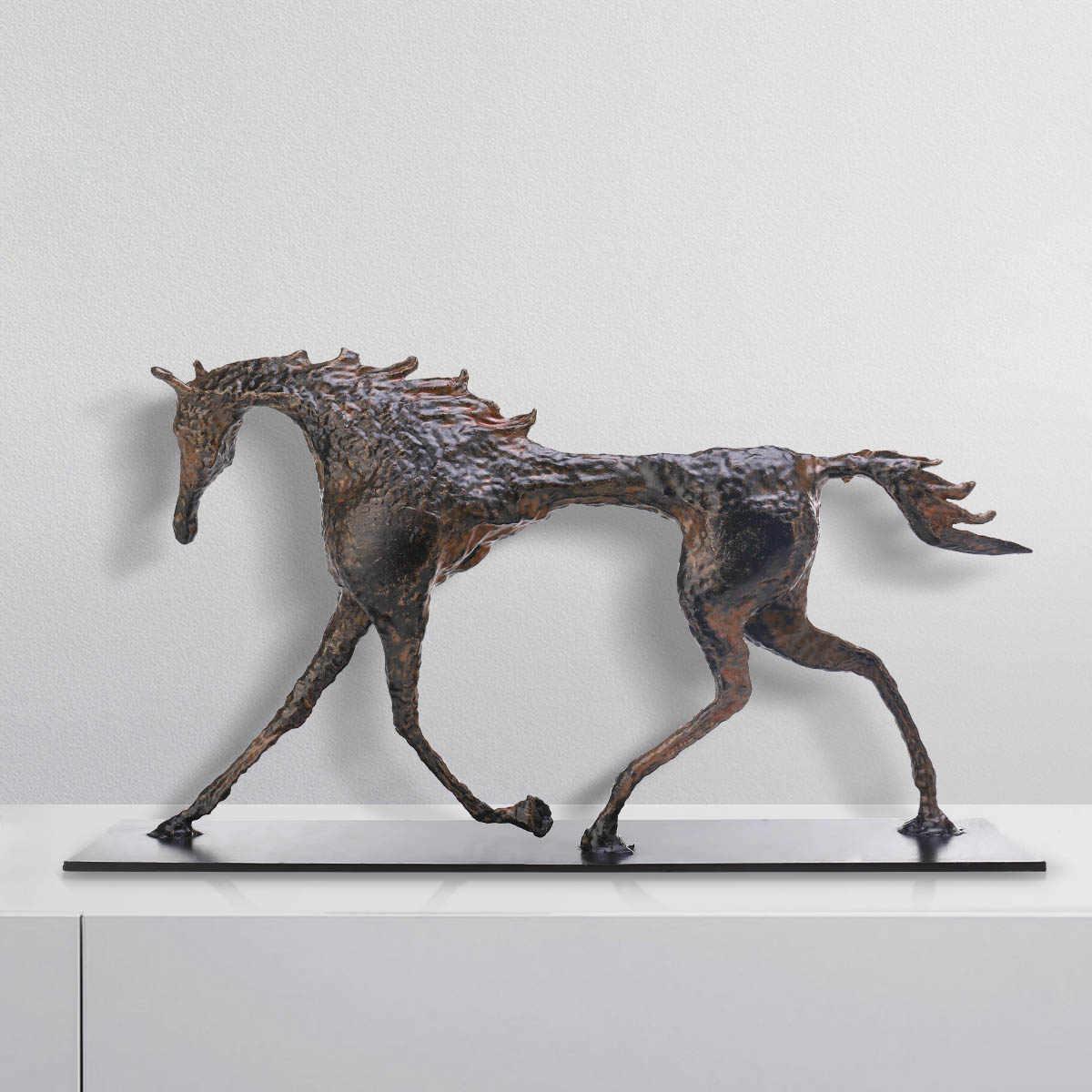 Art Decor Tribute Iron Casting Horse Sculpture Exquisite Handcraft Art Decor For Home Office Modern Art Figurine Festival Gift Statues Sculptures Aliexpress
