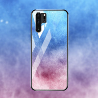 silicone case Tempered Glass Case For Huawei P30 P20 pro Cases Space Silicone Covers for Huawei P30 P20 lite 2019 P20 lite 2018 back cover (5)