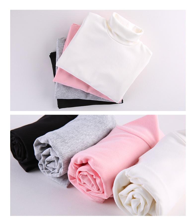 2019 Spring Korean-style Childrenswear New Babies' Long Sleeve T-shirt Girls Pure Cotton LYCRA Lace Collar Base Shirt Customizab