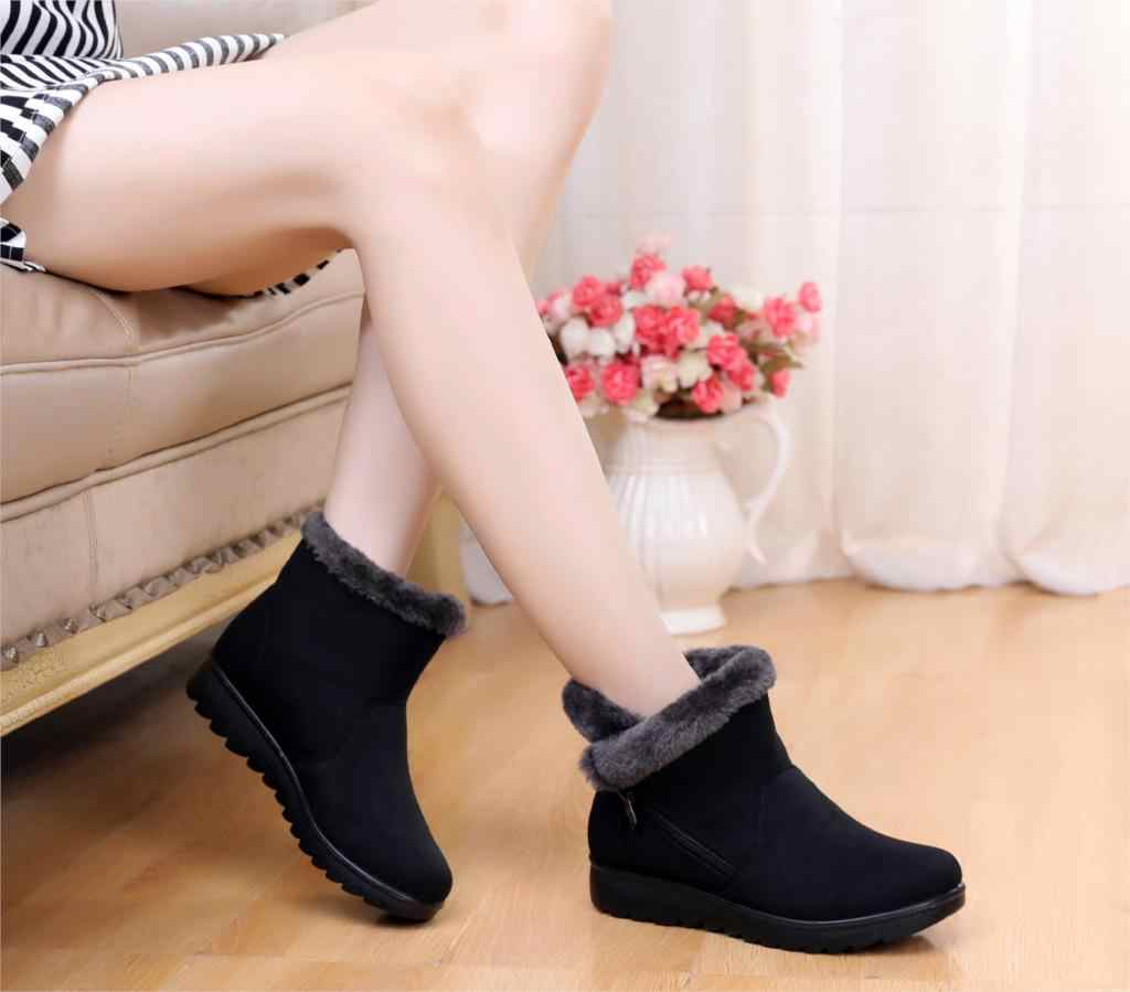 New Women Snow Boots Super Warm cheap Winter Shoes Women Sneakers Ankle Boots mother shoes Plus Size st480