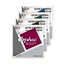 Orphee QE Series – cordes de guitare électrique en alliage de Nickel plaqué, remplacement QE23 /QE25/ QE27/QE29, 5 ensembles